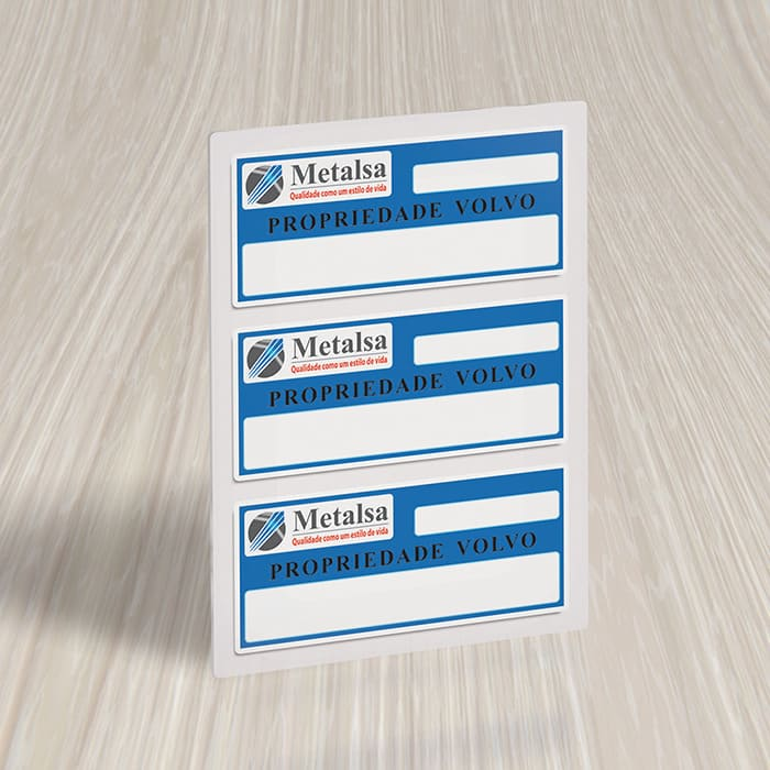 Etiqueta de patrimônio impressão