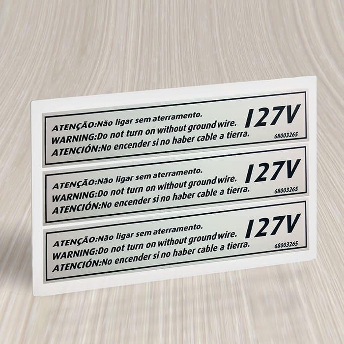 Etiqueta para eletrodomésticos